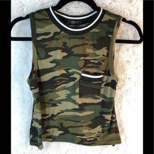 Army Style Crop Top, Women's/Junior Size Medium